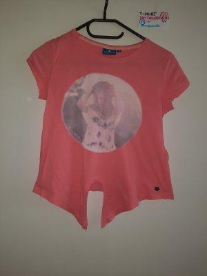M T Shirt Tom Tailor rosa mit Bild von Mädchen