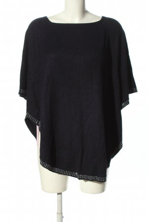 M & V Poncho black casual look