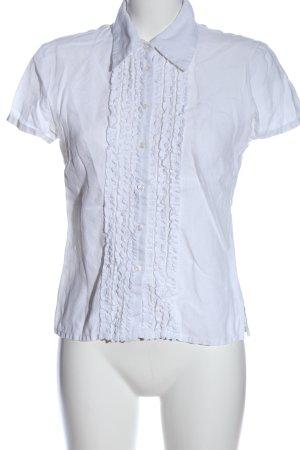 M.W.W. Camisa de manga corta blanco look casual