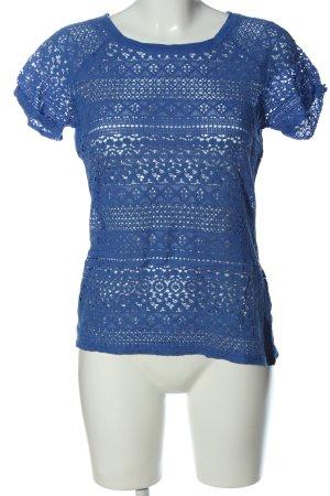 M.X.O Kurzarm-Bluse blau Mustermix Casual-Look