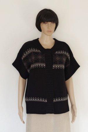M.X.O Giacca di lana nero-bianco Acrilico