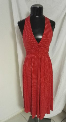 Halter Dress white-red