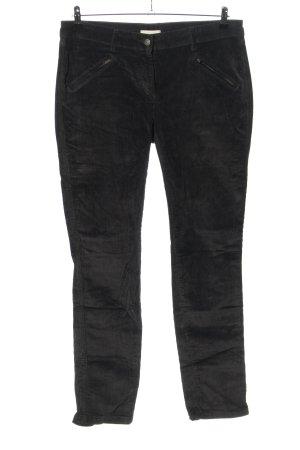 Maas Spodnie sztruksowe czarny W stylu casual