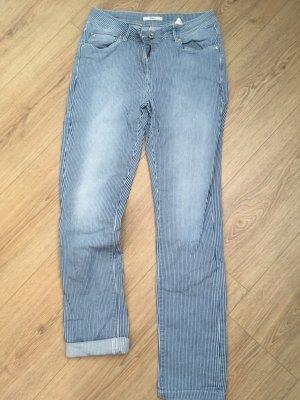 Maas Jeans blau-weiß gestreift M 38