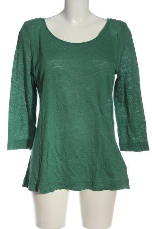 Maas Blusa de lino verde look casual