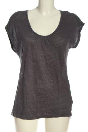 Maas Blusa de lino gris claro moteado look casual