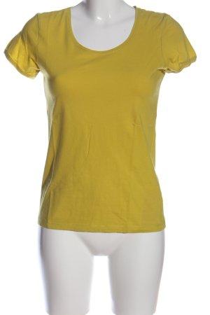 Maas T-Shirt blassgelb Casual-Look