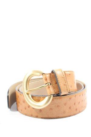 Mabel The Belt Cintura di pelle color carne-marrone stampa integrale