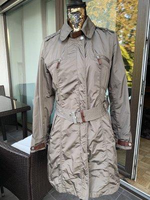 mabrun Pikowany płaszcz khaki-brązowy