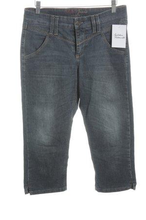 Mac 3/4 Jeans blau Washed-Optik
