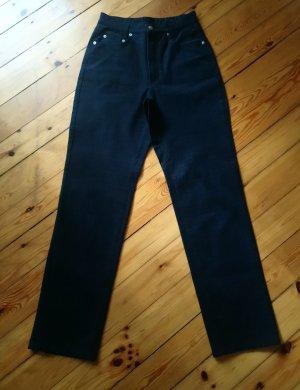 Mac Hoge taille broek zwart-antraciet Katoen