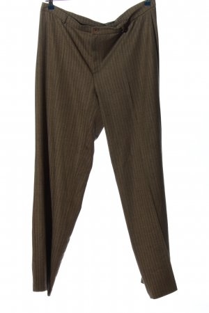 Mac Baggy Pants khaki Streifenmuster Business-Look