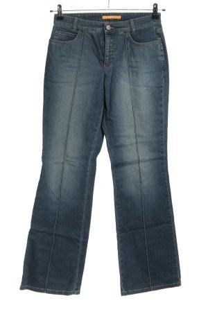 Mac Jeansy o kroju boot cut niebieski W stylu casual