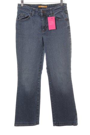 Mac Boot Cut Jeans blau meliert schlichter Stil