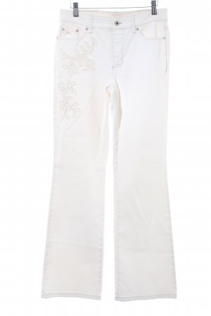 Mac Boot Cut Jeans creme Casual-Look