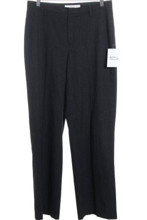 Mac Bundfaltenhose schwarz-wollweiß Business-Look