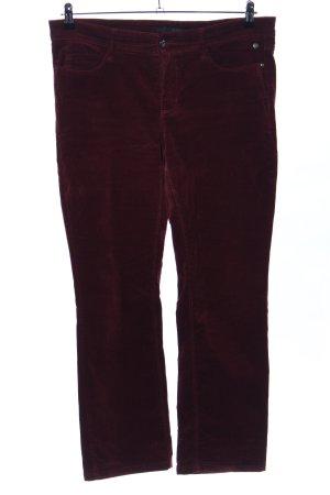 Mac Pantalón de pana rojo look casual