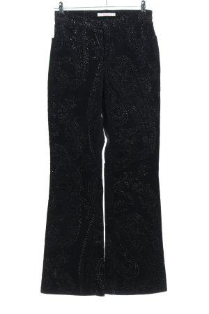Mac Cordhose schwarz-silberfarben Allover-Druck extravaganter Stil