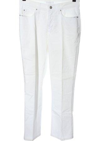 Mac Pantalón de cinco bolsillos blanco look casual