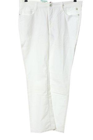 Mac Spodnie z pięcioma kieszeniami biały W stylu casual