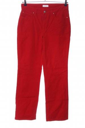 Mac High Waist Trousers red casual look