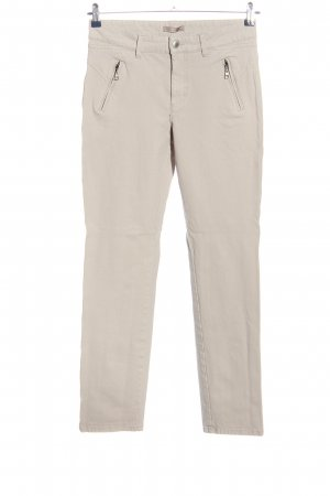 Mac High-Waist Hose hellgrau Casual-Look