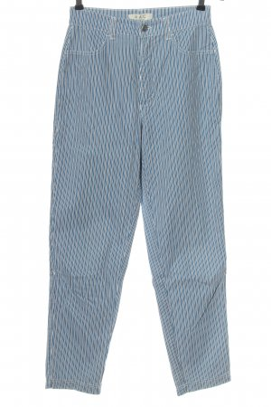 Mac High Waist Trousers blue-white striped pattern casual look