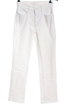 Mac Jeansy z wysokim stanem biały W stylu casual