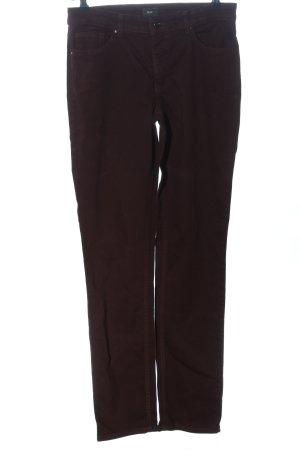 Mac Jeans taille haute brun style décontracté