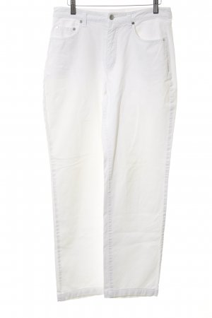 Mac Hoge taille jeans wit casual uitstraling
