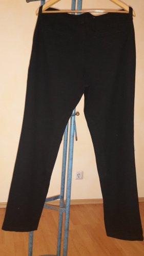 Mac Pantalón de cintura alta negro Algodón