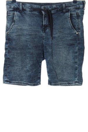Mac Hot pants blauw casual uitstraling