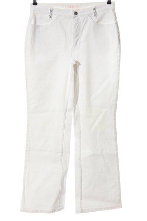 Mac Spodnie biodrówki biały W stylu casual