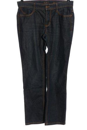 Mac Jeansy biodrówki niebieski W stylu casual