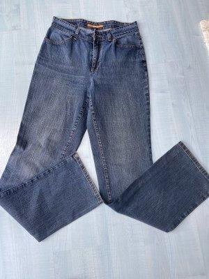 MAC Jeans Jeansy o kroju boot cut szary niebieski