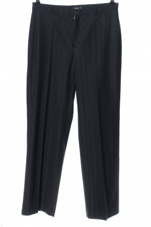 MAC Jeans Anzughose schwarz Streifenmuster Business-Look