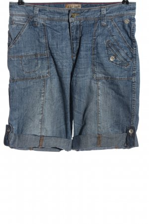 MAC Jeans Bermuda blau Casual-Look