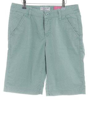 MAC Jeans Bermuda graugrün-kadettblau abstraktes Muster Casual-Look