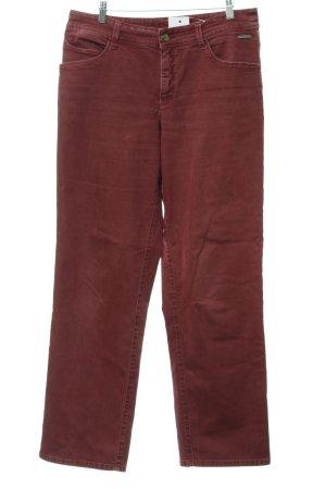 MAC Jeans Boot Cut Jeans bordeauxrot Jeans-Optik