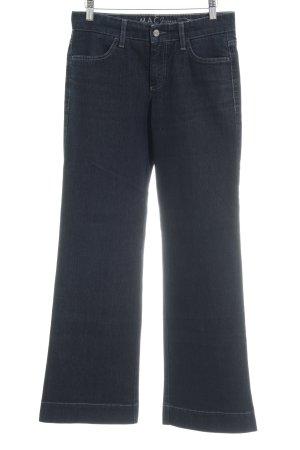 MAC Jeans Boot Cut Jeans dunkelblau Casual-Look