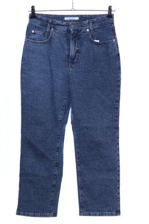 MAC Jeans Boyfriendjeans blau meliert Casual-Look