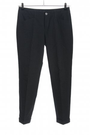 MAC Jeans Bundfaltenhose schwarz Webmuster Business-Look