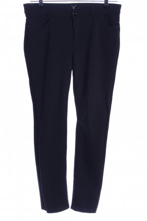 MAC Jeans Bundfaltenhose schwarz Business-Look
