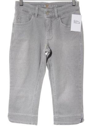 MAC Jeans Caprihose hellgrau Casual-Look