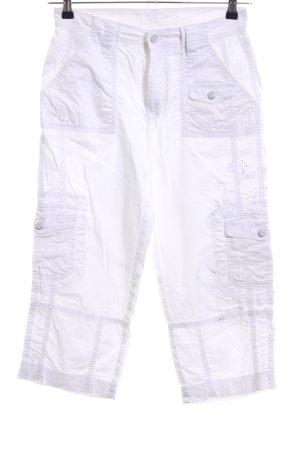 MAC Jeans Cargohose weiß Casual-Look