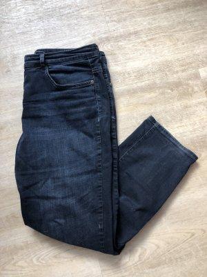 Mac Jeansy z prostymi nogawkami ciemnoniebieski-niebieski
