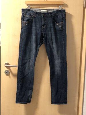 MAC Jeans Jeansy typu boyfriend chabrowy-niebieski