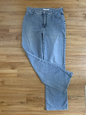 Mac Low Rise Jeans pale blue-slate-gray cotton