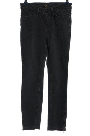 MAC Jeans Hoge taille broek zwart casual uitstraling