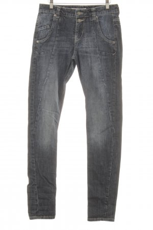MAC Jeans Hoge taille jeans donkerblauw simpele stijl